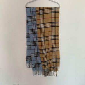 Two Tartan Plaid Scarves